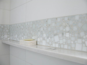 mosaico parede banheiro
