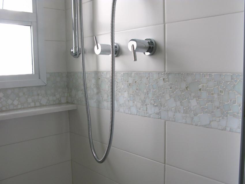 faixa banheiro pastilhas mosaico