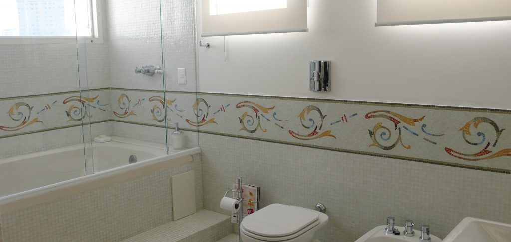 faixa banheiro pastilha